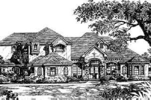 European Exterior - Front Elevation Plan #135-104