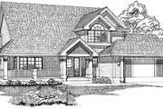 Traditional Style House Plan - 3 Beds 2.5 Baths 2001 Sq/Ft Plan #47-412 Exterior - Front Elevation