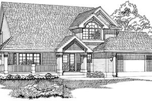 Traditional Exterior - Front Elevation Plan #47-412