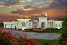 Dream House Plan - Ranch Exterior - Front Elevation Plan #70-1142