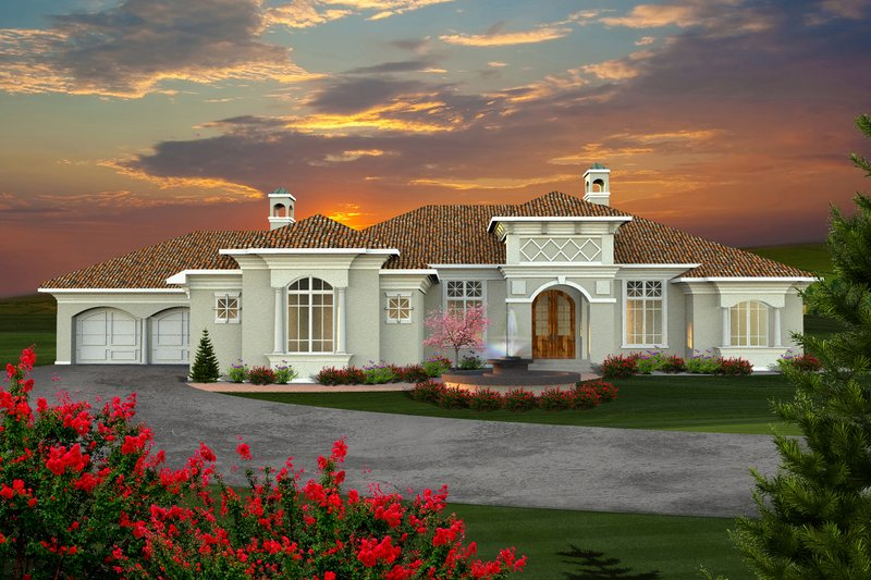 Ranch Style House Plan - 2 Beds 2.5 Baths 3214 Sq/Ft Plan #70-1142