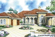 Architectural House Design - Mediterranean Exterior - Front Elevation Plan #930-293