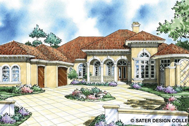 Architectural House Design - Mediterranean Exterior - Front Elevation Plan #930-293