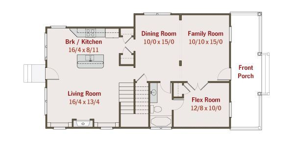 Southern Floor Plan - Main Floor Plan #461-33