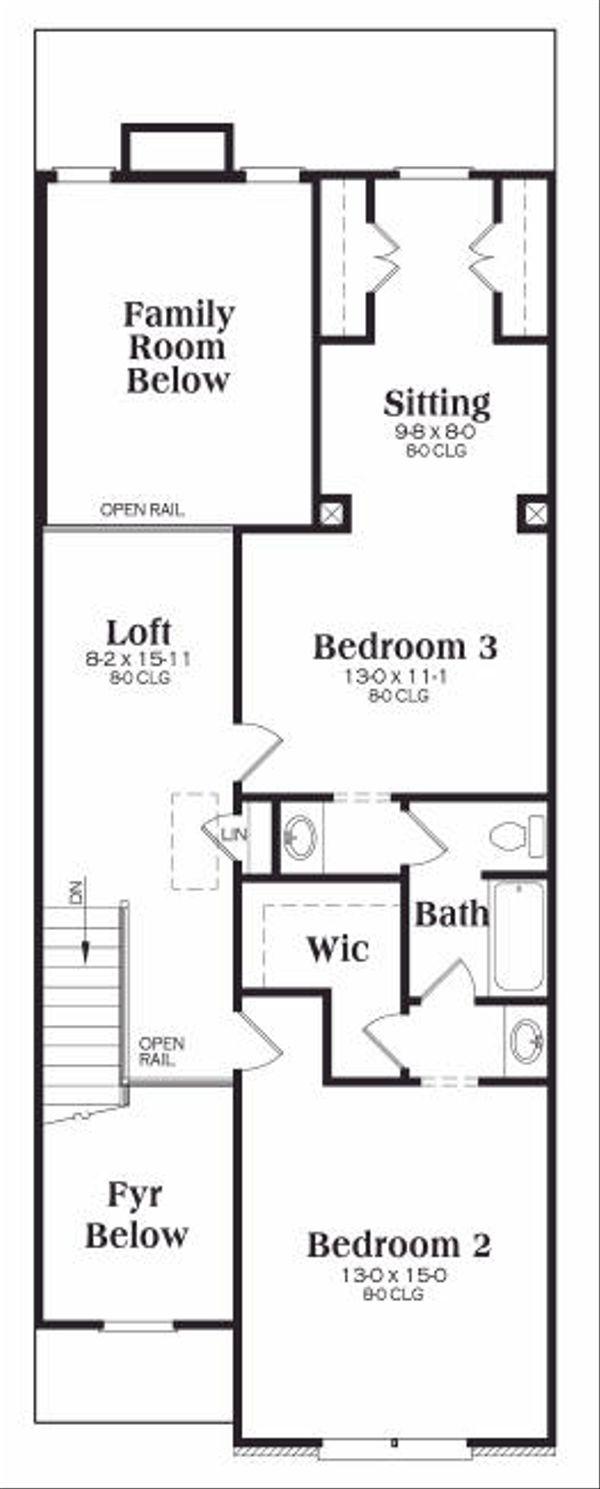 Craftsman Floor Plan - Upper Floor Plan Plan #419-178
