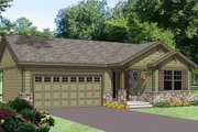 Craftsman Style House Plan - 3 Beds 2 Baths 1202 Sq/Ft Plan #116-268 Exterior - Front Elevation