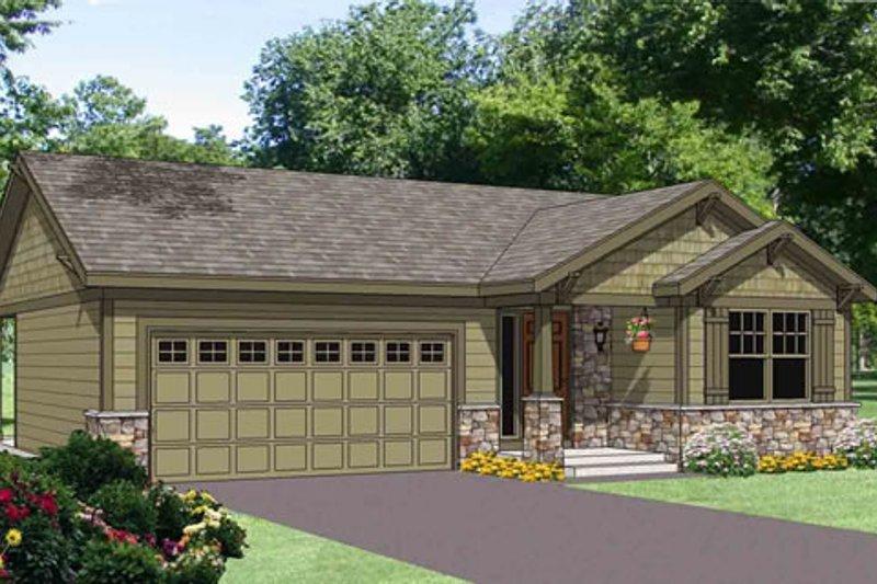Craftsman Style House Plan - 3 Beds 2 Baths 1202 Sq/Ft Plan #116-268