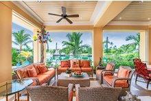 Beach Exterior - Covered Porch Plan #938-102
