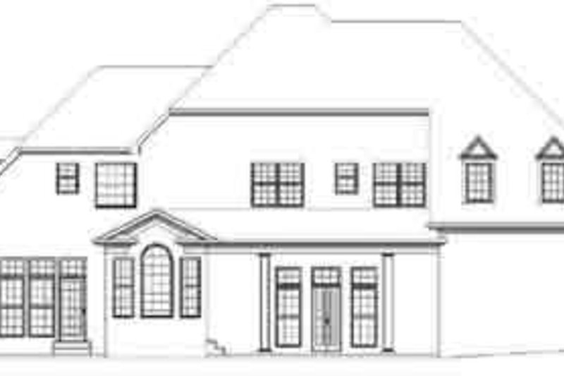European Exterior - Rear Elevation Plan #119-215 - Houseplans.com