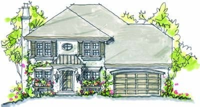 European Exterior - Front Elevation Plan #20-931