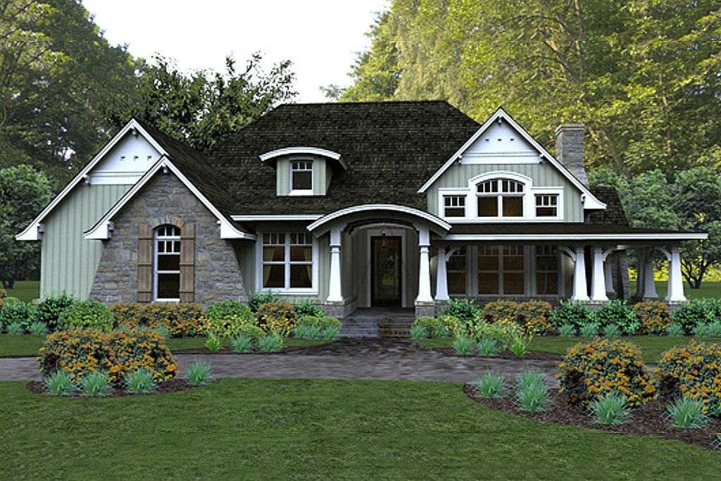 Craftsman style house plan 3 beds 3 baths 2267 sq ft for Craftsman vs mission style