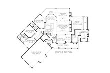 Craftsman Floor Plan - Main Floor Plan Plan #54-381