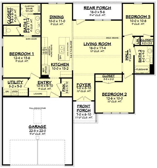 House Plan Design - Farmhouse Floor Plan - Main Floor Plan #430-253