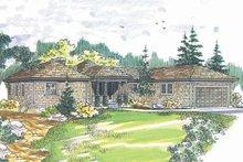 Craftsman Exterior - Front Elevation Plan #124-408