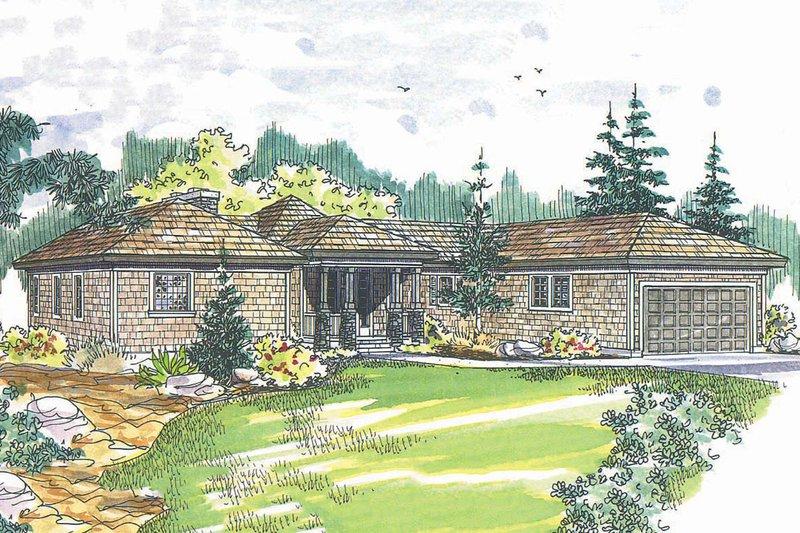 Dream House Plan - Craftsman Exterior - Front Elevation Plan #124-408