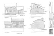 Colonial Style House Plan - 4 Beds 2.5 Baths 1938 Sq/Ft Plan #47-130 Exterior - Rear Elevation