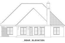 House Plan Design - European Exterior - Rear Elevation Plan #17-2508