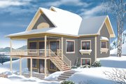 Cottage Style House Plan - 3 Beds 2 Baths 2304 Sq/Ft Plan #23-2318 Exterior - Rear Elevation
