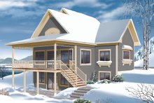 House Design - Cottage Exterior - Rear Elevation Plan #23-2318