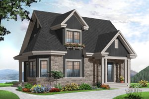 Country Exterior - Front Elevation Plan #23-2372
