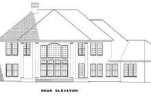 House Plan Design - Traditional Exterior - Rear Elevation Plan #17-2702