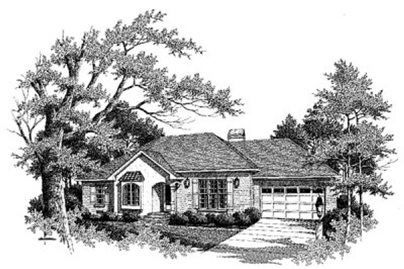 Traditional Exterior - Front Elevation Plan #41-108 - Houseplans.com
