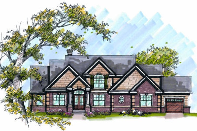 Bungalow Exterior - Front Elevation Plan #70-996