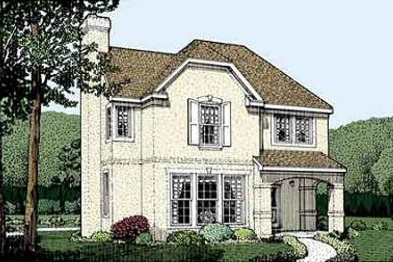 Traditional Exterior - Front Elevation Plan #410-323 - Houseplans.com