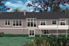 House Design - Craftsman Exterior - Rear Elevation Plan #48-169