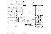 Ranch Style House Plan - 3 Beds 2.5 Baths 2477 Sq/Ft Plan #1058-196 Floor Plan - Main Floor