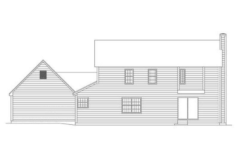 Victorian Exterior - Rear Elevation Plan #57-101 - Houseplans.com