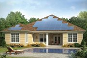 Country Style House Plan - 3 Beds 2.5 Baths 2287 Sq/Ft Plan #938-1 Exterior - Rear Elevation
