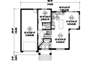 Contemporary Style House Plan - 3 Beds 1 Baths 1680 Sq/Ft Plan #25-4545 Floor Plan - Main Floor Plan