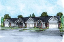 Dream House Plan - Ranch Exterior - Front Elevation Plan #20-1536