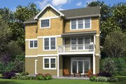Cottage Style House Plan - 5 Beds 3.5 Baths 3770 Sq/Ft Plan #48-997 Exterior - Rear Elevation