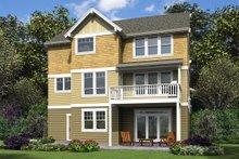 House Plan Design - Cottage Exterior - Rear Elevation Plan #48-997
