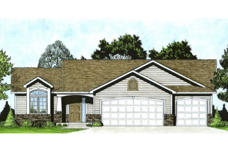 Traditional Exterior - Front Elevation Plan #58-173 - Houseplans.com