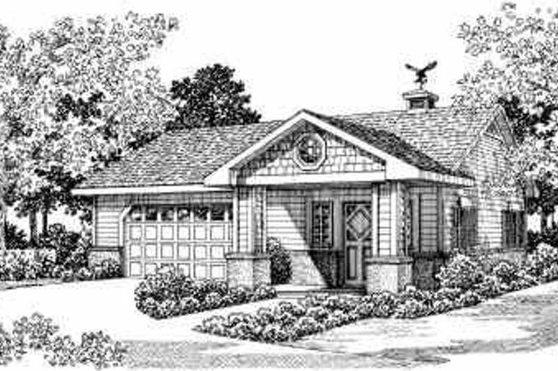 Bungalow Exterior - Front Elevation Plan #72-262