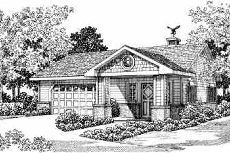 House Blueprint - Bungalow Exterior - Front Elevation Plan #72-262