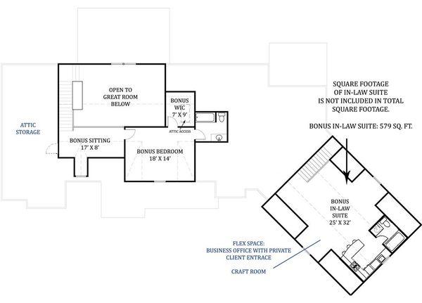 Dream House Plan - Craftsman Floor Plan - Upper Floor Plan #119-367