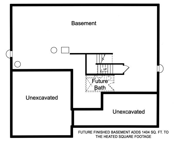 European Floor Plan - Lower Floor Plan Plan #46-889