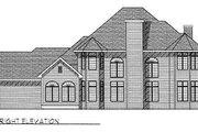 European Style House Plan - 3 Beds 3 Baths 2845 Sq/Ft Plan #70-458 Exterior - Rear Elevation