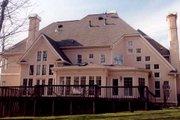 European Style House Plan - 5 Beds 4 Baths 4515 Sq/Ft Plan #119-241 Exterior - Rear Elevation