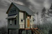 Cabin Style House Plan - 1 Beds 1 Baths 606 Sq/Ft Plan #556-2 Exterior - Front Elevation