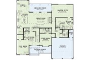 Traditional Style House Plan - 3 Beds 4 Baths 2683 Sq/Ft Plan #17-3424 Floor Plan - Main Floor Plan