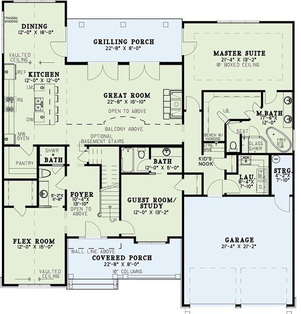 Traditional Floor Plan - Main Floor Plan Plan #17-3424
