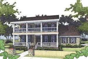 Home Plan - Southern Exterior - Front Elevation Plan #120-157