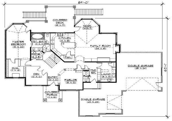 European Floor Plan - Main Floor Plan Plan #5-389