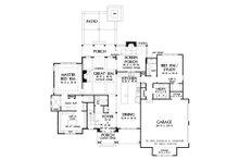 Traditional Floor Plan - Main Floor Plan Plan #929-1101