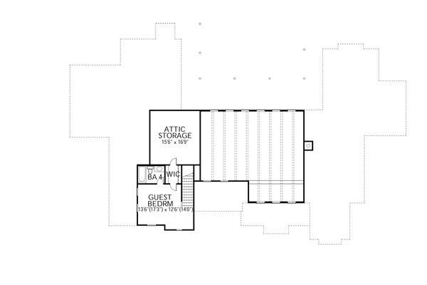 Country Floor Plan - Upper Floor Plan Plan #80-196